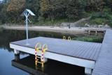 Malbork. Krajobraz nad Nogatem. Kąpielisko, nowa zabudowa, bulwar i jesienne klimaty