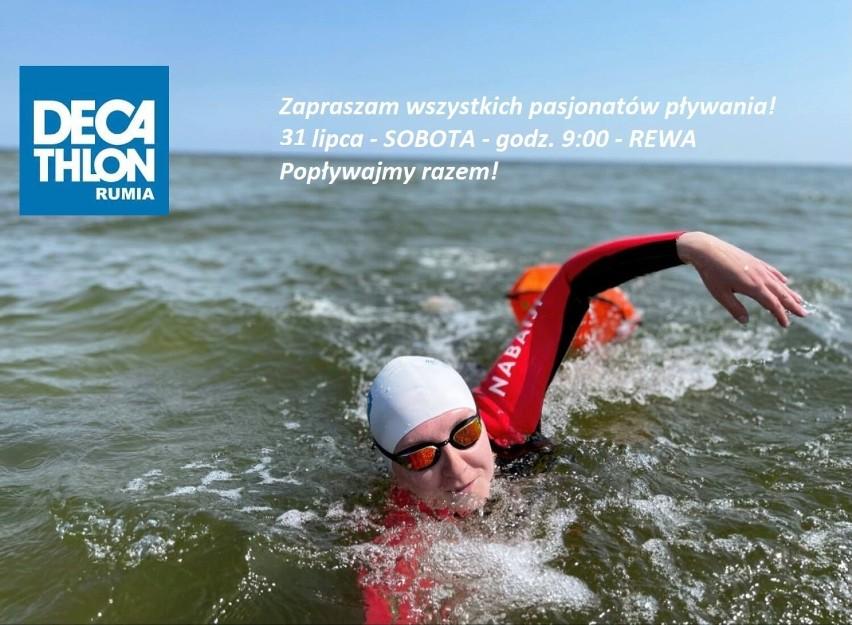 W sobotę 21 lipca (godz. 9) w Rewie wspólne pływanie w...
