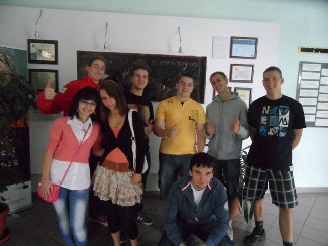 Kamil, Krzysztof, Adam, Jacek oraz dwóch Patryków, a także Katarzyna i Monika są dumni ze swojej szkoły
