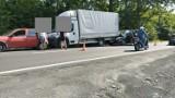 Trzy auta zderzyły się na krajówce w Andrychowie