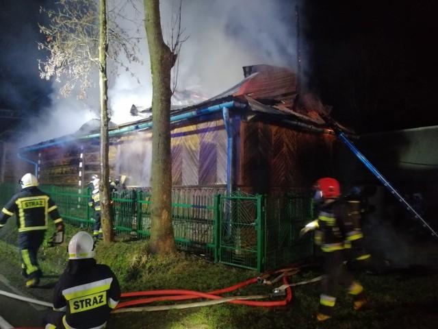 Pożar budynku mieszkalno-gospodarczego w Czerwiennem