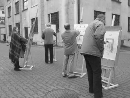 Przez ostatni tydzień artyści wyszukiwali ciekawe zakątki Będzina.