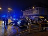 Poważne zderzenie dwóch taksówek na skrzyżowaniu w Bytomiu