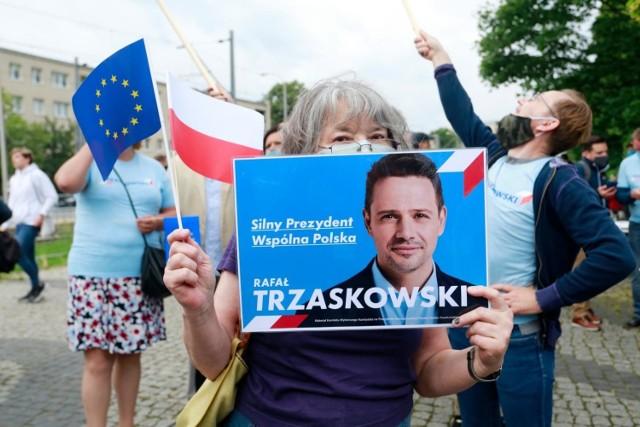 Zwolennicy Rafała Trzaskowskiego