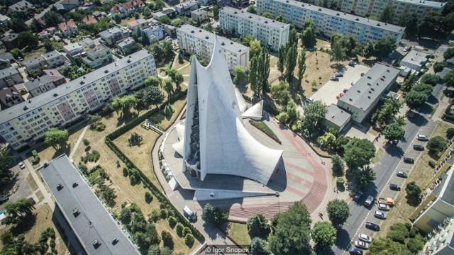 Sanktuarium Miłosierdzia Bożego w budowie