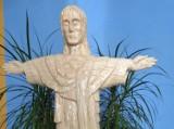 Z 80 tys. zapałek w Pawłosiowie koło Jarosławia powstał pomnik Chrystusa [ZDJĘCIA]