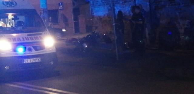 Wypadek w centrum Lipna