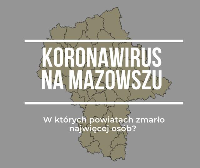 Koronawirus. Codziennie docierają do nas informacje o kolejnych zarażeniach koronawirusem w naszym kraju. Województwo mazowieckie jak na razie ma najwięcej potwierdzonych przypadków. Na tę chwilę (stan na 8.04, godz. 16) na Mazowszu jest 1314 osób z pozytywnym wynikiem, a 37 osób zmarło. W którym powiecie jest najwięcej ofiar śmiertelnych? Na podstawie danych ze Stacji Sanitarno-Epidemiologicznych przygotowaliśmy statystki z podziałem na powiaty.