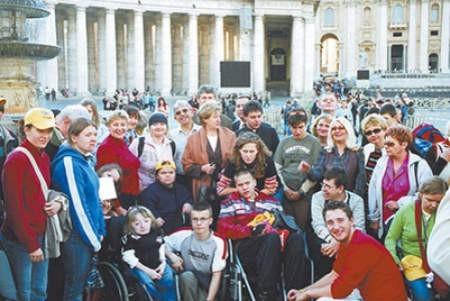 Grupa z dąbrowskiego V LO podczas swojej ostatniej wizyty w Rzymie. archiwum