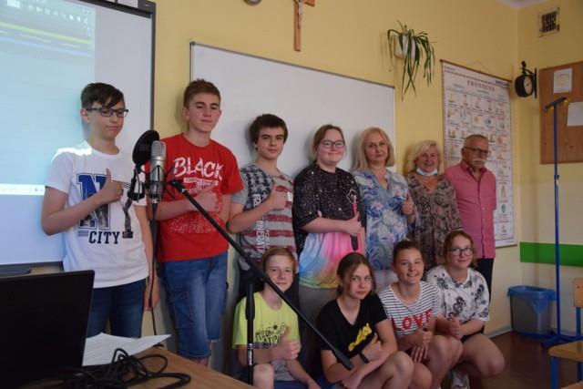 Daniel i jego rówieśnicy podczas spotkania w Szkole Podstawowej nr 3.