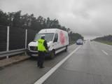 Pościg za złodziejem samochodu na S8 w Zduńskiej Woli ZDJĘCIA