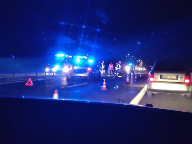 Wypadek na A4 pod Brzeskiem