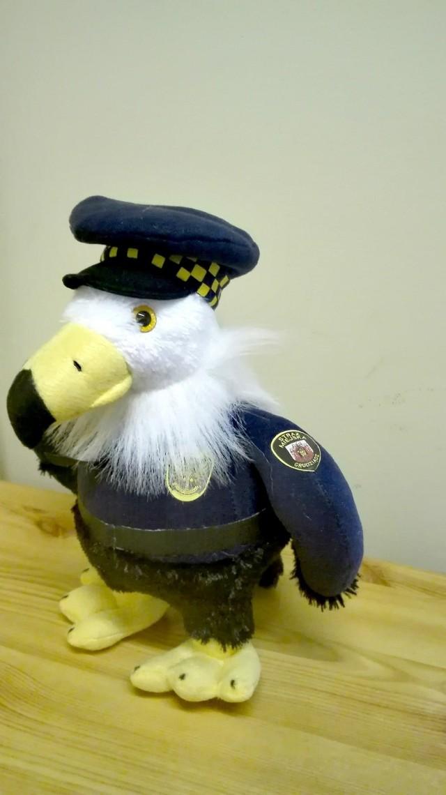 Orzeł to nowa maskotka Straży Miejskiej Grudziądza