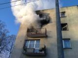 Pożar mieszkania w Węgorzewie. Ewakuowano osiem osób [ZDJĘCIA]
