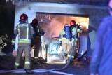 Pożar na Lubuskiej. W garażu znajdowała się butla gazowa