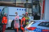 Panki: Wypadek dwóch autokarów. Droga jest nieprzejezdna. Na miejscu pracują wszystkie służby