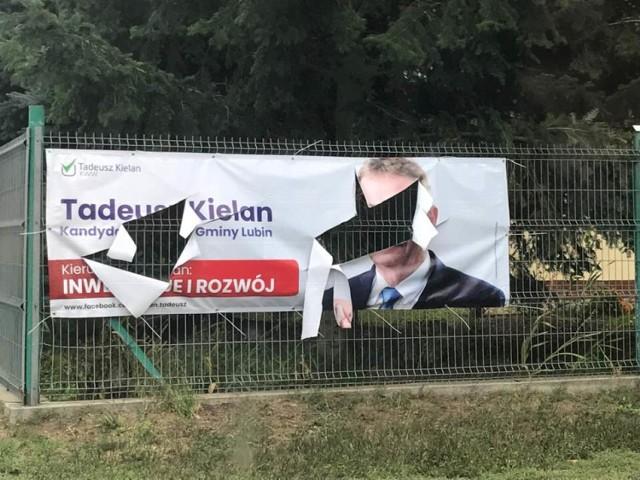 Kampania na ostro. Ktoś niszczy banery wyborcze Tadeusza Kielana