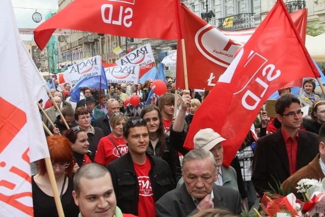 Tak w Łodzi świętowano 1 maja w 2011 r. W 2012 roku pochód się nie odbył