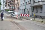 Remont torowiska na Małachowskiego w Sosnowcu został wstrzymany. Opóźnienia mogą potrwać nawet do 8 miesięcy