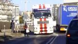 KROTOSZYN: Piesza omal nie straciła życia pod kołami ciężarówki [FILM KU PRZESTRODZE]