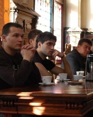 Ukraińcy pojawili się m.in. w chojnickim ratuszu. FOT. WOJCIECH PIEPIORKA