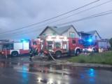 Pożar w delikatesach na granicy Tarnowa. Paliła się kasa