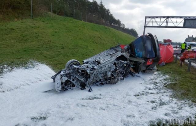 Wypadek na A4 na wysokości Gogolina.