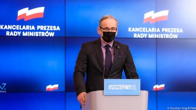 Minister zdrowia Adam Niedzielski poinformował o przedłużeniu obostrzeń