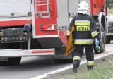 """Wypadek na """"starej trójce"""" w Marwicach koło Gorzowa"""