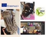 Uczniowie ZSOiO  w Pruszczu w projekcie Erasmus+ wygrywają też konkursy fryzjerskie  ZDJĘCIA