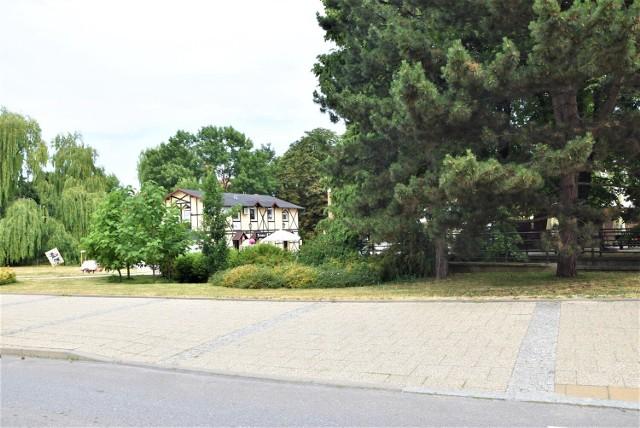 """Napis """"Malbork"""" ma pojawić się w takiej zielonej scenerii przy ul. Piłsudskiego, czyli w centrum miasta."""