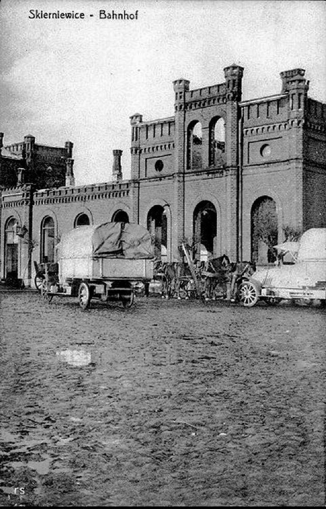 Około 1915 roku, zniszczenia wojenne