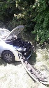 Wypadek w Kluskach -droga wojewódzka nr 482 zablokowana. Cztery osoby ranne