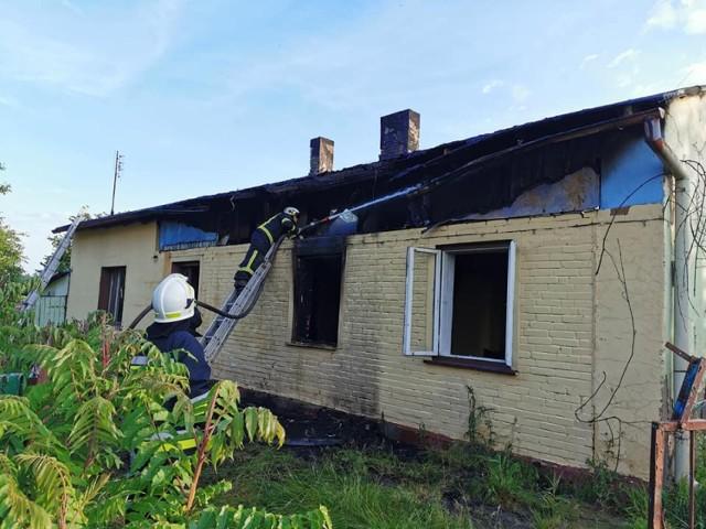 Pożar w Igancowie w gm. Zelów