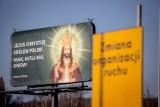 Billboard z Jezusem Chrystusem w Wałbrzychu [ZDJĘCIA 25.11.2020]