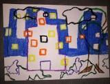 Siódmoklasiści ze Szkoły Podstawowej w Różycy zainspirowali się obrazami Henryka Stażewskiego