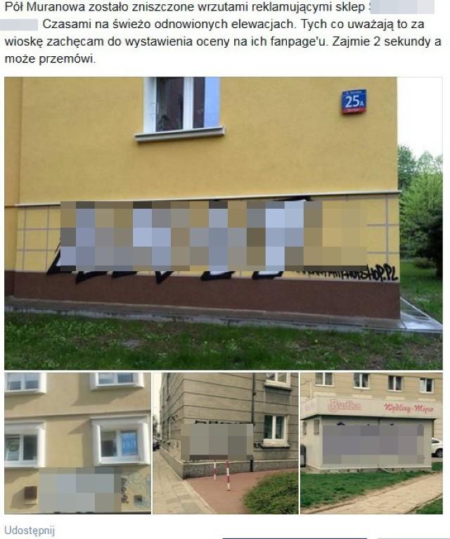 """Graffiti na Muranowie. Internauci wypowiedzieli wojnę skateshopowi. Sklep: """"To nie my"""" [WIDEO]"""