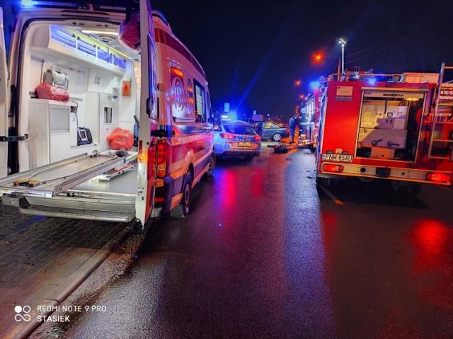 Zdjęcia z miejsca wypadku mamy dzięki uprzejmości strażaków w OSP Kożuchów