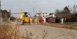Międzychód. Przy ulicy Teresy Remiszewskiej lądował helikopter Lotniczego Pogotowia Ratunkowego