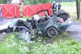 Śmiertelny wypadek na drodze Racot - Gryżyna w powiecie kościańskim. Czołowe zderzenie dwóch aut. Nie żyje jedna osoba