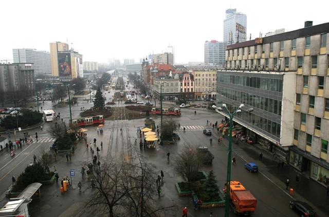 Rynek w Katowicach przed przebudową
