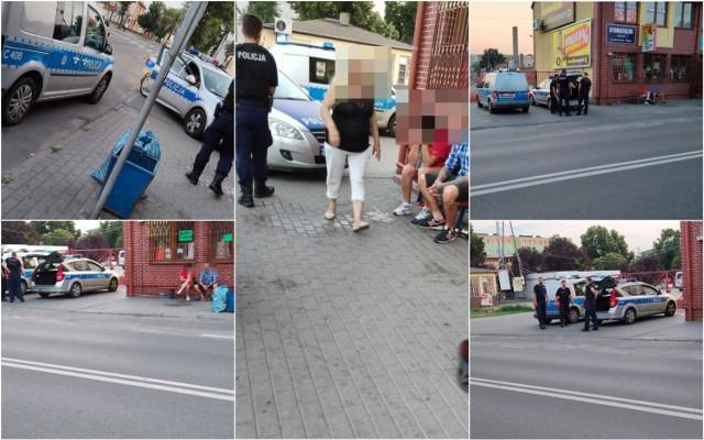Libacja alkoholowa na ulicy Kaliskiej we Włocławku zakończona interwencją policji