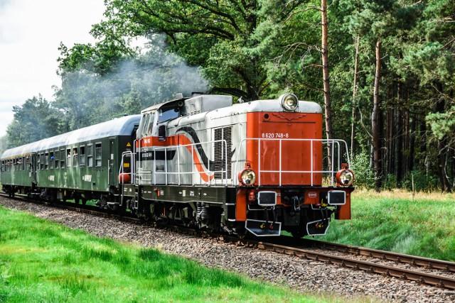 Pociąg retro w Żarach