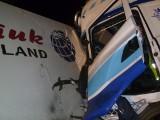 Na DK 92 w Młodasku doszło do zderzenia dwóch tirów