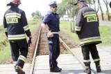 Wypadek na przejeździe kolejowym [ZDJĘCIA]