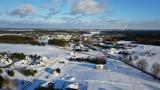 Szczecinek w okowach lodu i śniegu. Widok z pokładu drona GALERIA