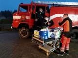 Strażacy z OSP w Grabowie pomagają szpitalowi w Miastku. Mieszkańcy nie zawiedli