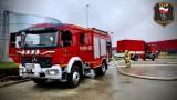 Ćwiczenia strażaków na terenie 7R w Swarożynie