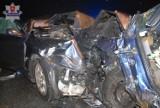 Wypadek w Poizdowie: Zderzenie forda z alfą romeo. Ranne cztery osoby, w tym 2-letnie dziecko