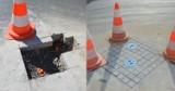 Załatali dziurę na ul. POW w Wieluniu. Zamiast asfaltu kamienna kostka ZDJĘCIA